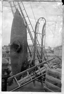 Лодка и нарты на палубе судна Святой мученик Фока