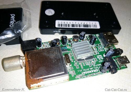 Электронная плата, DVB-T2-ресивер Perfeo PF-T2-1