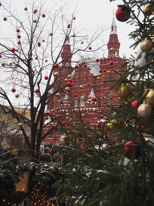 Москва, новогодняя Красная площадь (Moscow, New Year's Red Square)