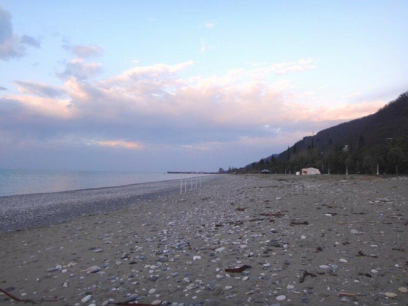 У моря Чёрного, в Абхазии, время зимнее, Новогоднее (4).JPG