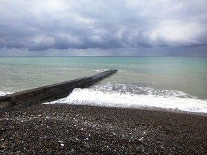 У моря Чёрного, в Абхазии, время зимнее, Новогоднее (13).JPG
