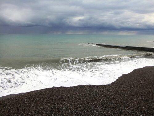У моря Чёрного, в Абхазии, время зимнее, Новогоднее (14).JPG