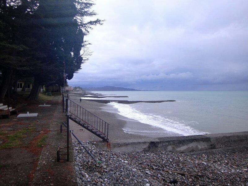 У моря Чёрного, в Абхазии, время зимнее, Новогоднее (25).JPG