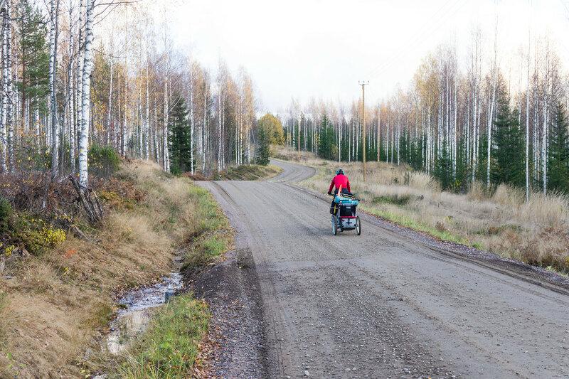 велопоход по финляндии в октябре с велоприцепом thule
