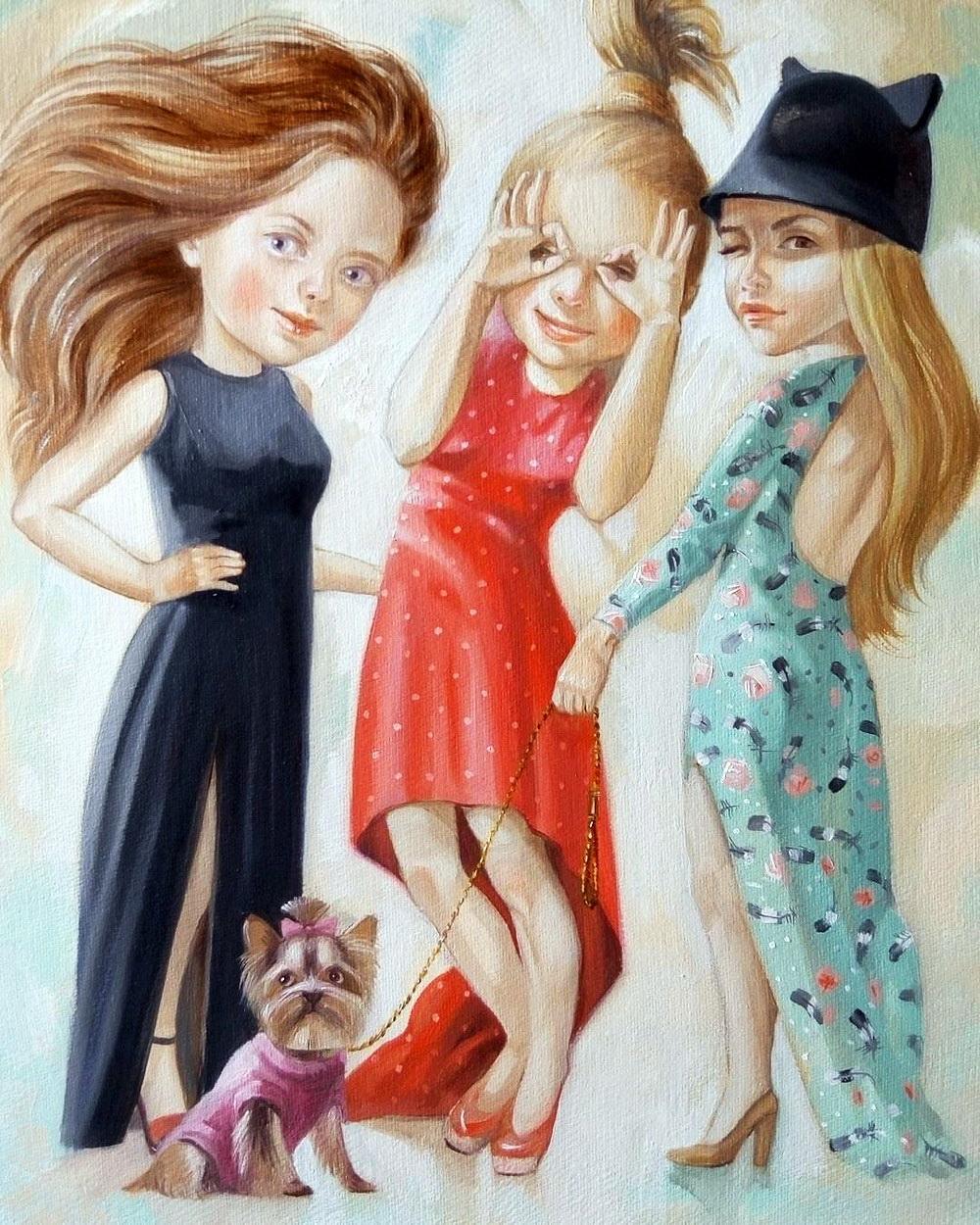 прикольные картинки трех подружек