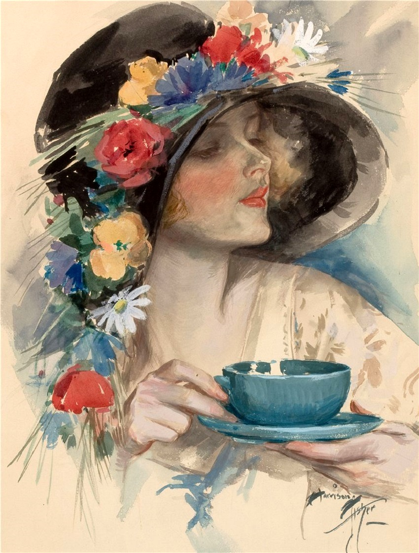 Afternoon Tea, Cosmopolitan magazine cover , September 1925