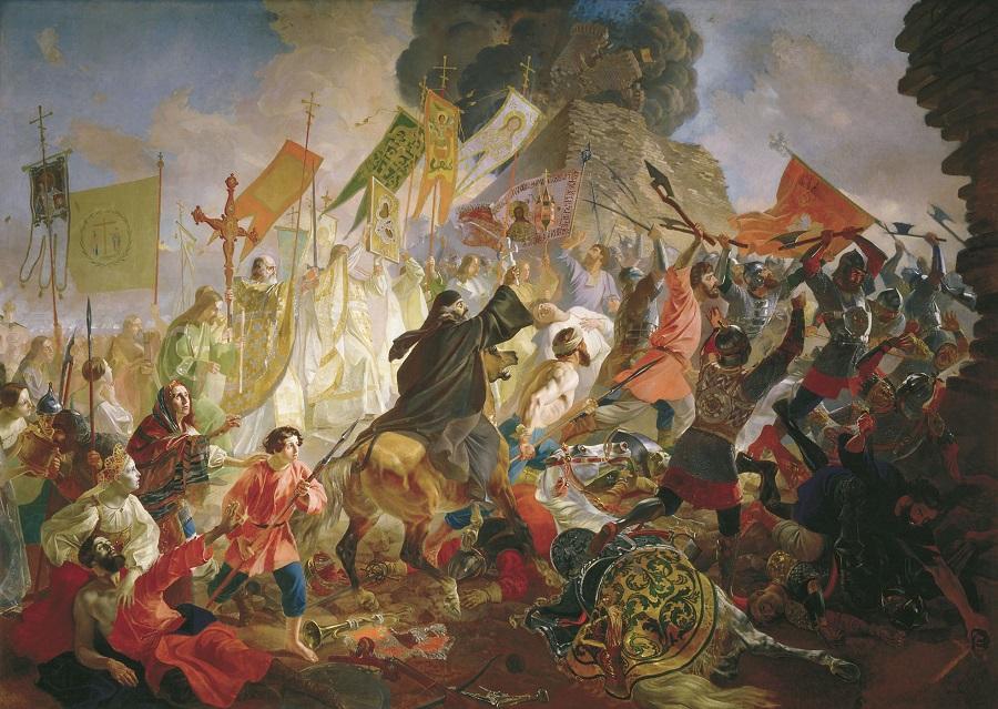 Осада Пскова польским королём Стефаном Баторием в 1581 году. 1839-1843 Третьяковская галерея.