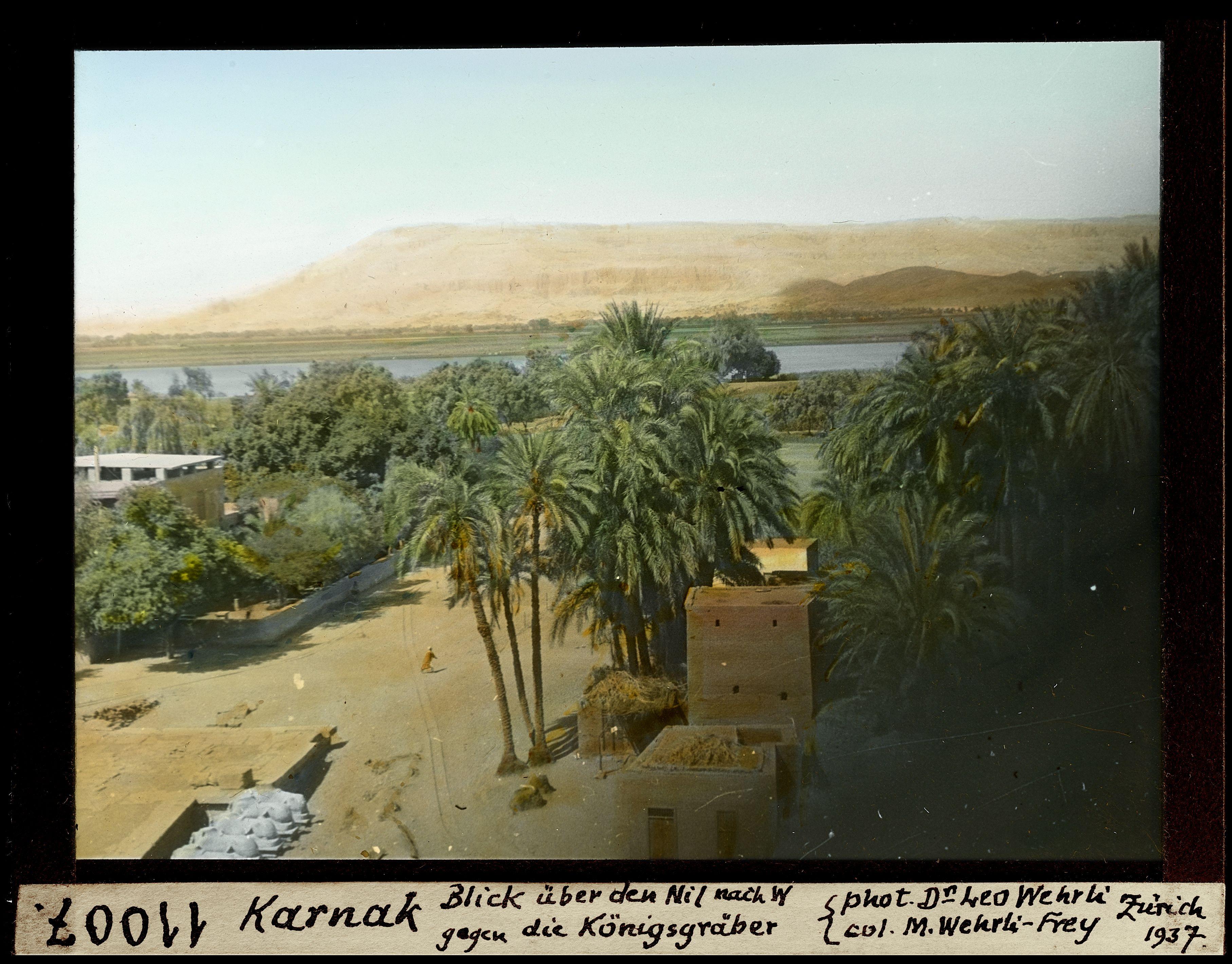 Вид с запада от развалин на Нил