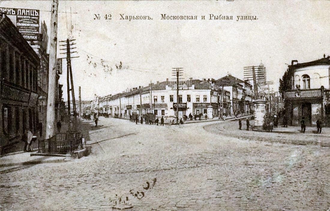 Московская и Рыбная улицы от Харьковского моста