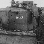 Польский бронепоезд со следами попадания снарядов. Хойнице (Chojnice), Польша. Сентябрь 1939 года.