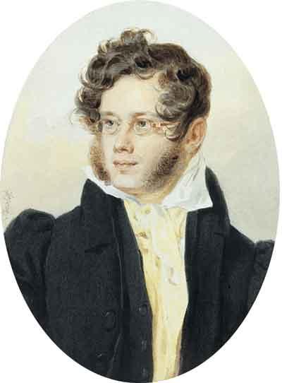 П.Ф.Соколов. Портрет поэта, князя Петра Андреевича Вяземского 1824г.(1792–1878)