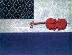 Иван Пуни «Натюрморт. Красная скрипка» 1919 г. Холст, масло. 145х115 см. Государственный Русский музей.