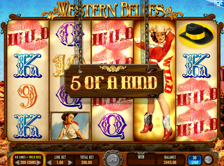 western belles  5 of a kind