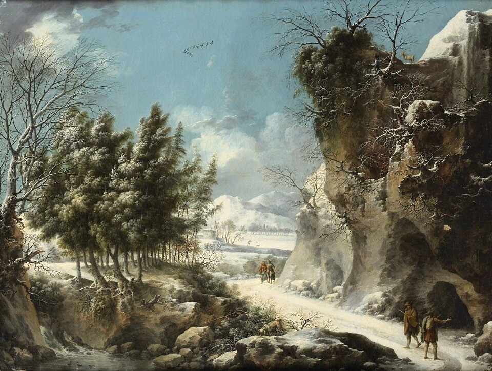 1_1779_Зимний пейзаж с путешественниками (A winter landscape with travellers)_74 х 99_х.,м._Частное собрание.jpg