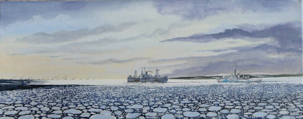 one of several I have done of the convoys to Russia.