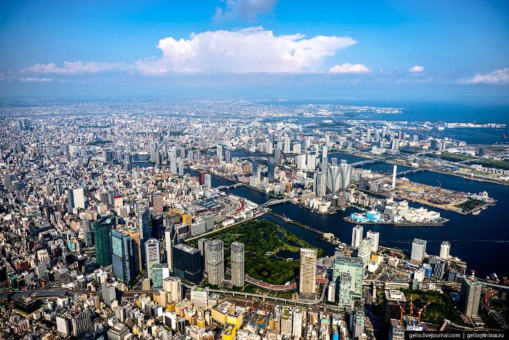 Токио с высоты: как устроена столица Японии (63 фото)
