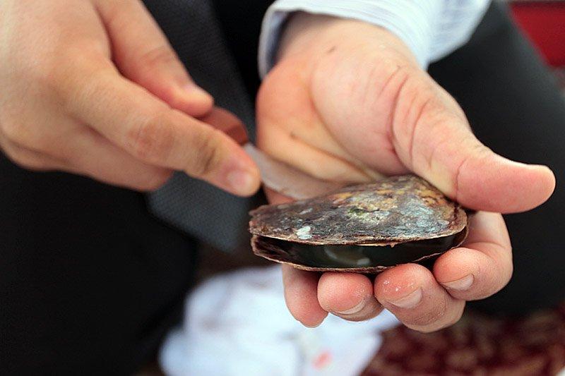 Цена одной жемчужины может  достигать 300 000 долларов . Можно было бы устраивать лот
