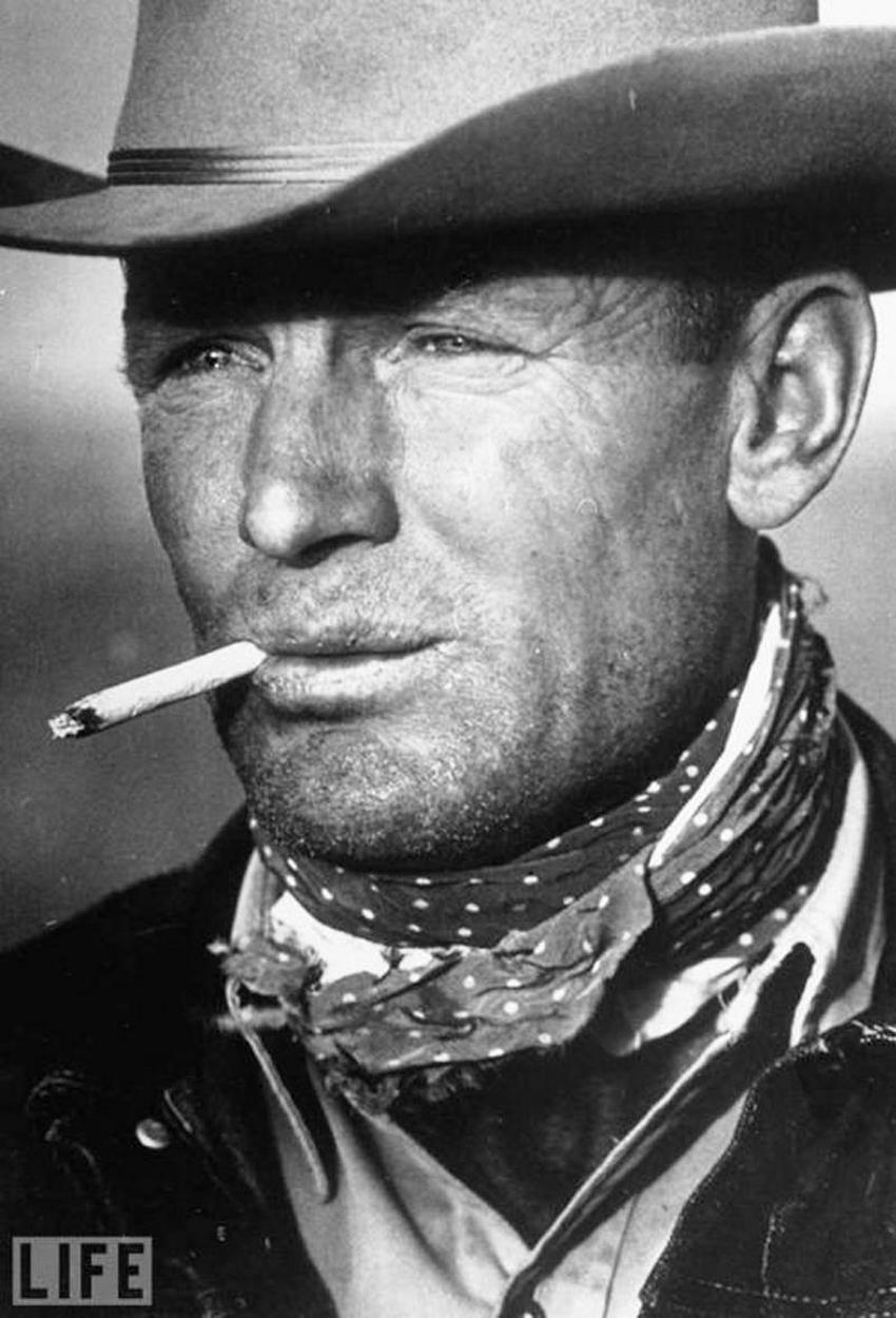 Автор фото: Леонард Маккомб (Leonard McCombe), 1949. 39-летний техасский ковбой Кларенс Хэйли (Clare
