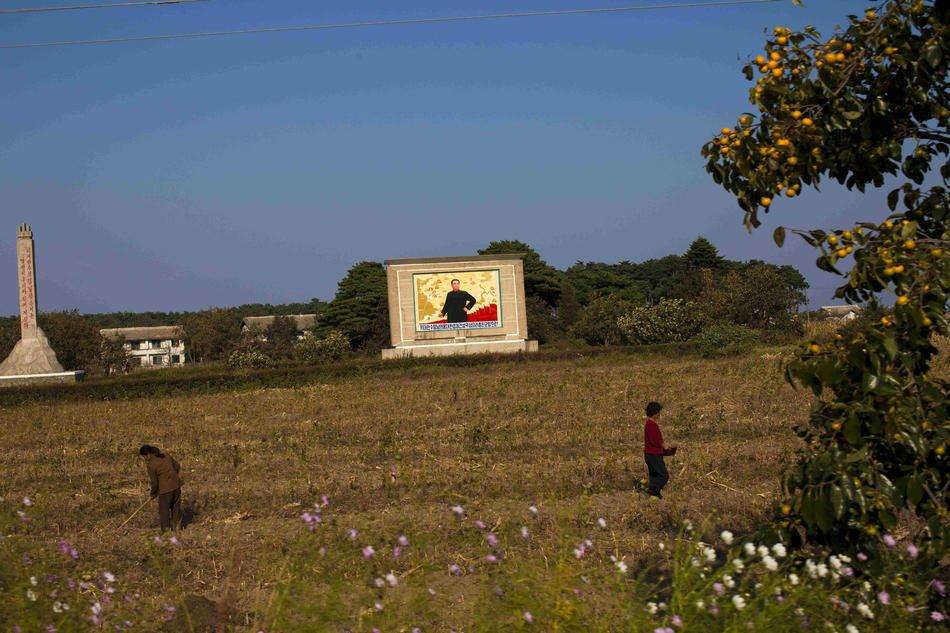 Центральный район Пхеньяна, Северная Корея, 9 декабря 2011: