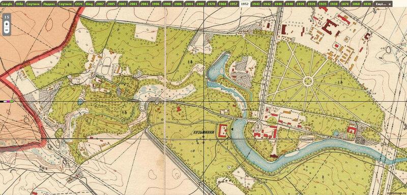 32А. Кузьминки. усадьба и парк. план 1952...JPG