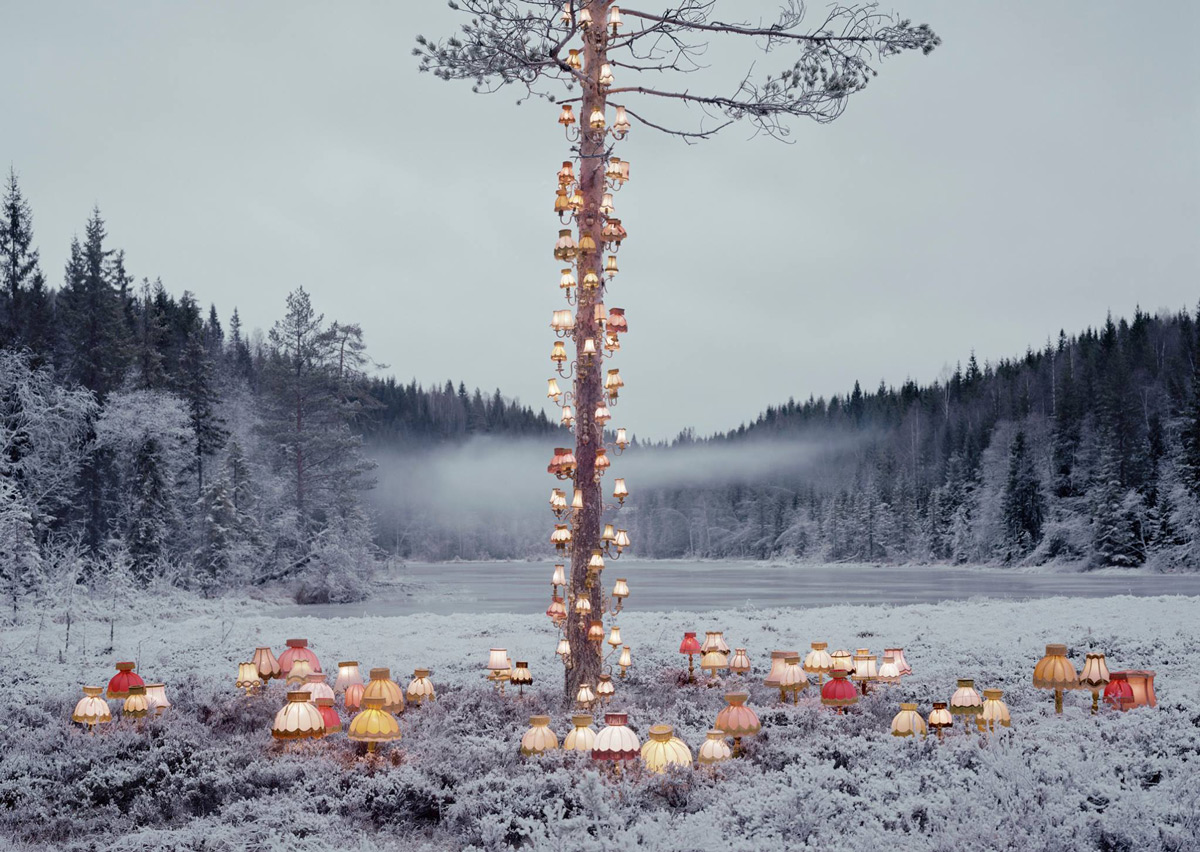 Surreal Book and Lamp Installations by Rune Guneriussen Illuminate Norway's Forests