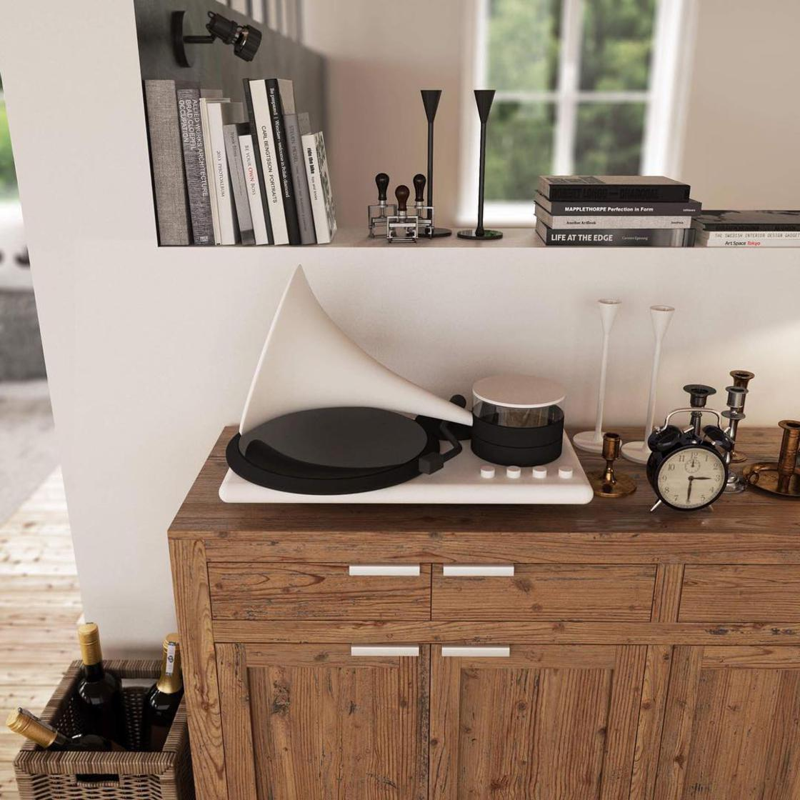 Kozmophone – A modern turntable in tribute to the Phonograph