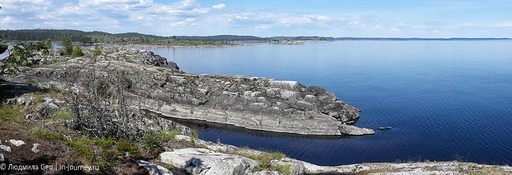 панорама Ладожских шхер с острова Есусаарет