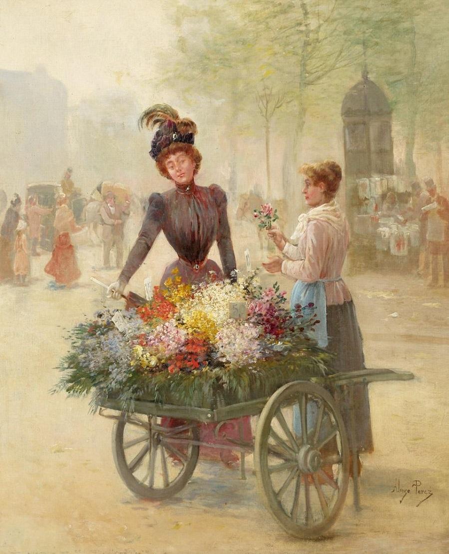 Dama y florista