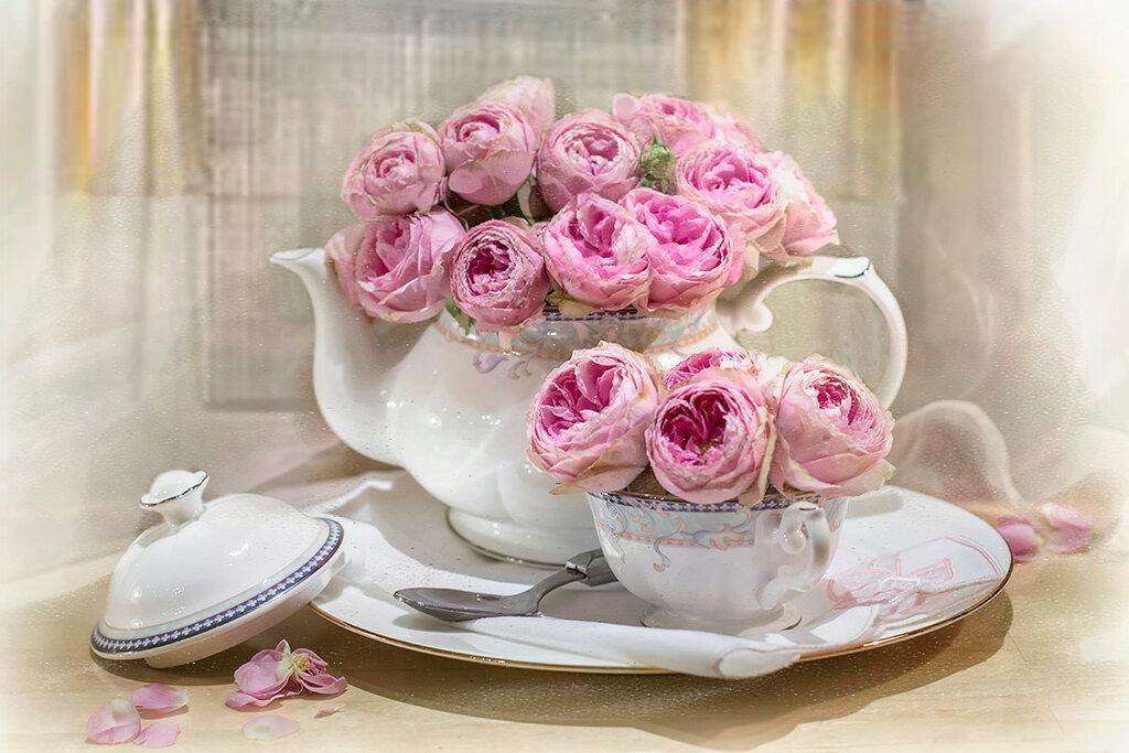 Чай с розовым ароматом