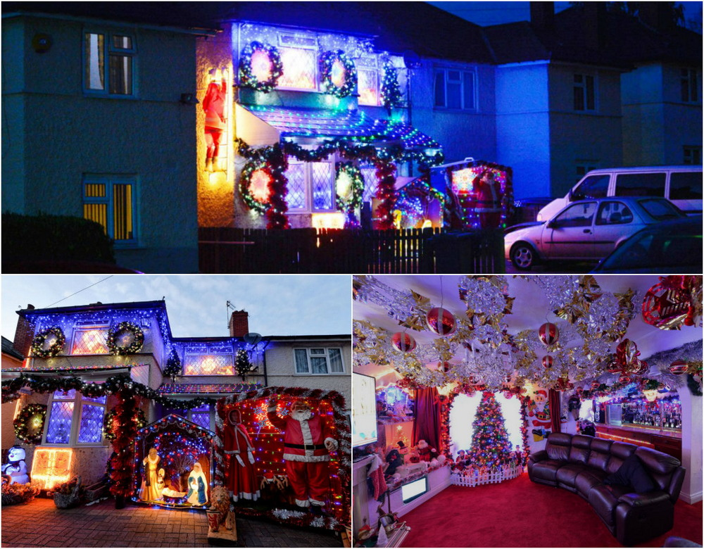 A couple of pensioners have already decorated the house for Christmas