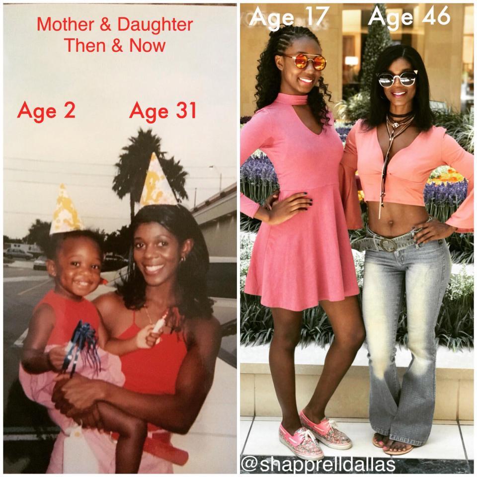 46-летняя маму часто принимают за сестру ее 17-летней дочери