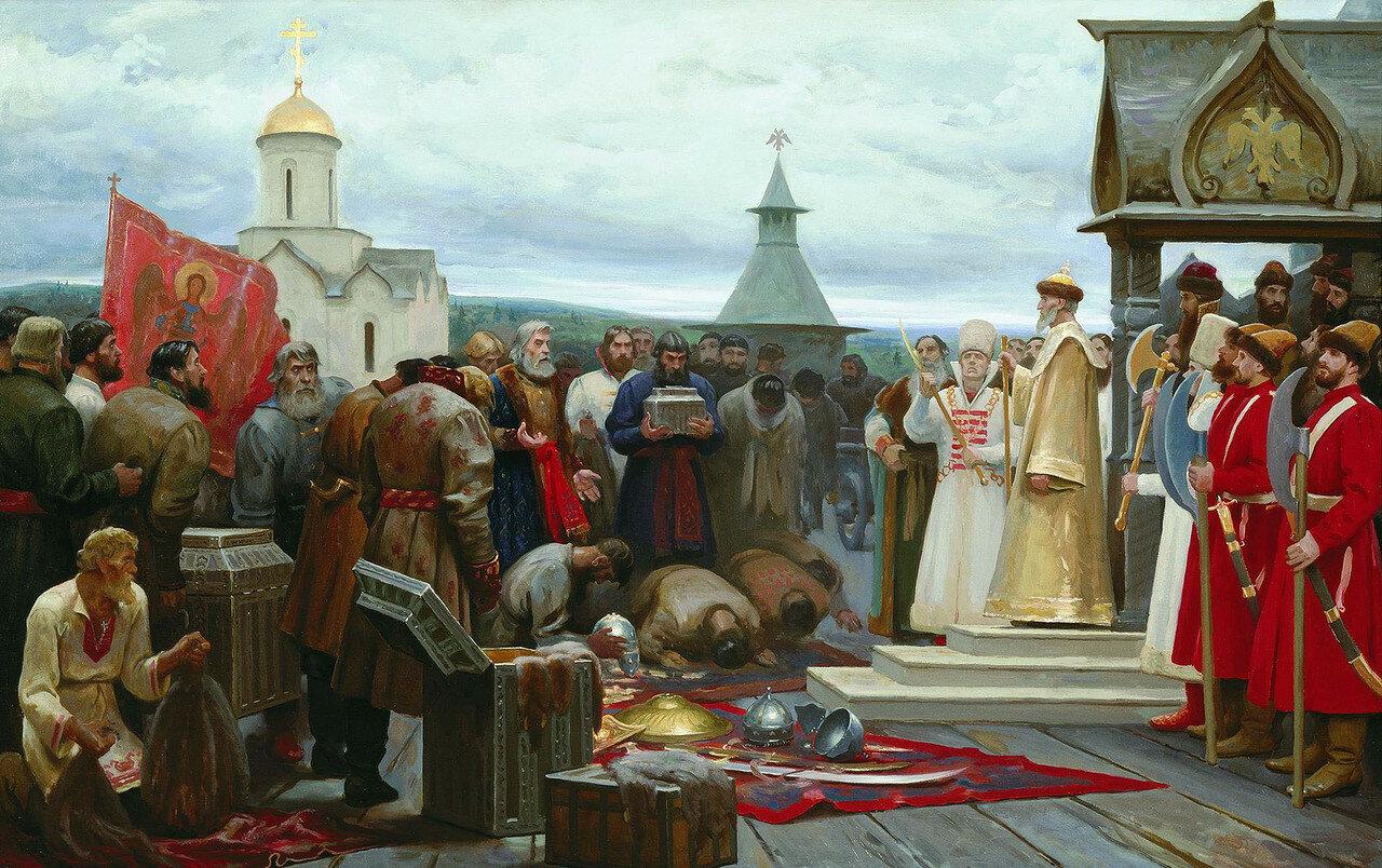 Приход посольства Ермака Ивану Грозному. Сергей Чикуньчиков