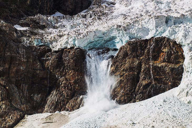Ледник Адиши на Кавказе (24 фото)