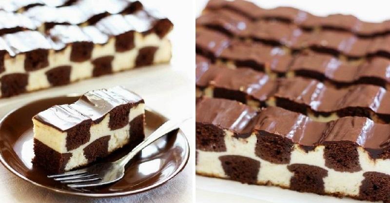 Шахматный торт   Ингредиенты для теста    50 мл молока &n