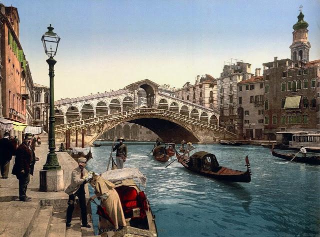 30 цветных фотографий Венеции в 1890-е годы (30 фото)