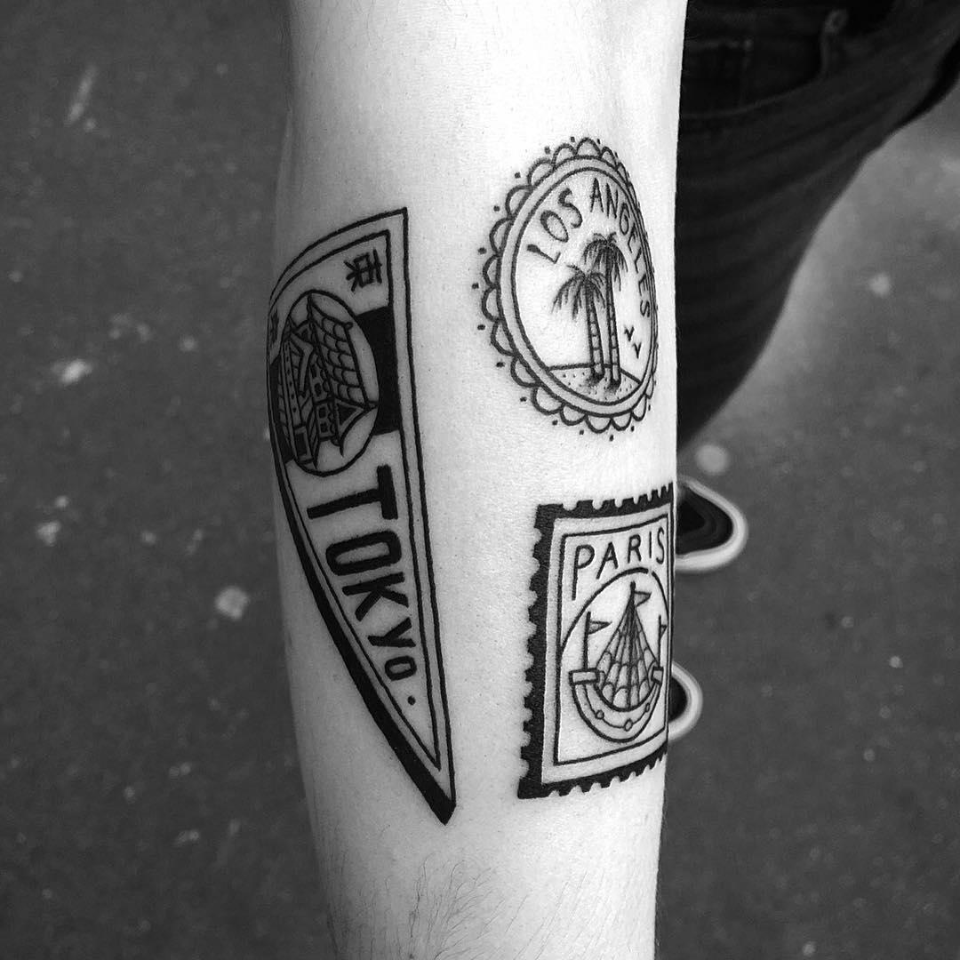 Beautiful Travel Tattoos by Franck Pellegrino