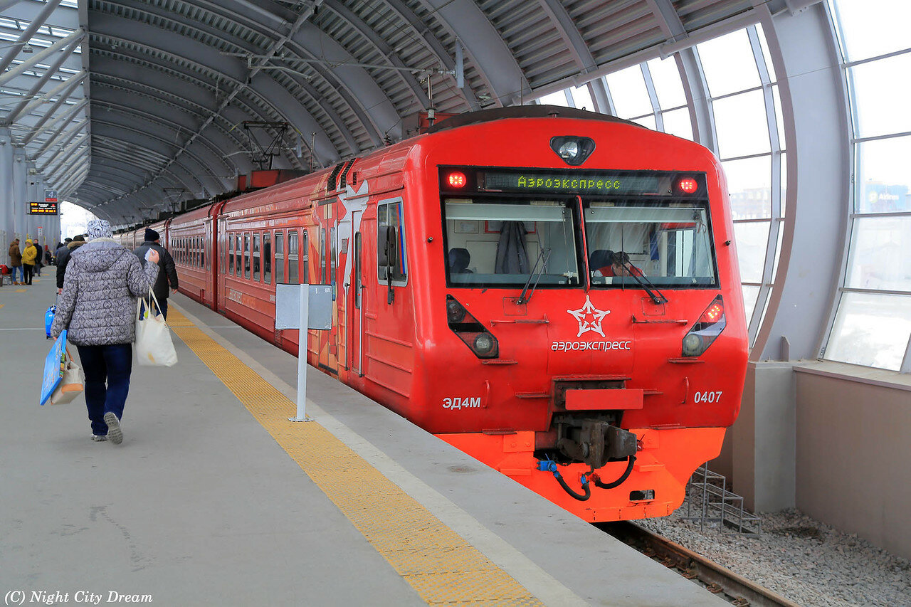 View from the second floor: Aeroexpress launched a double-decker train