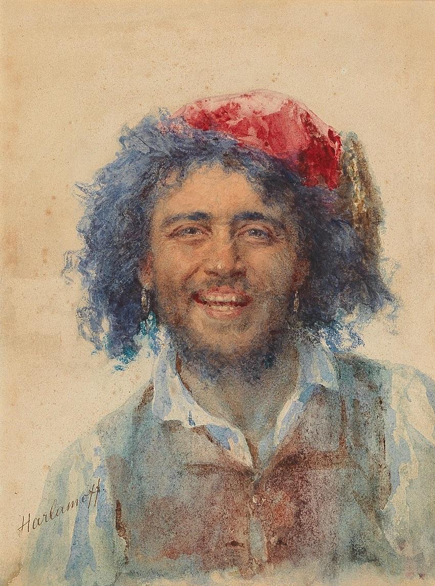 Self-portrait as gypsy baron.
