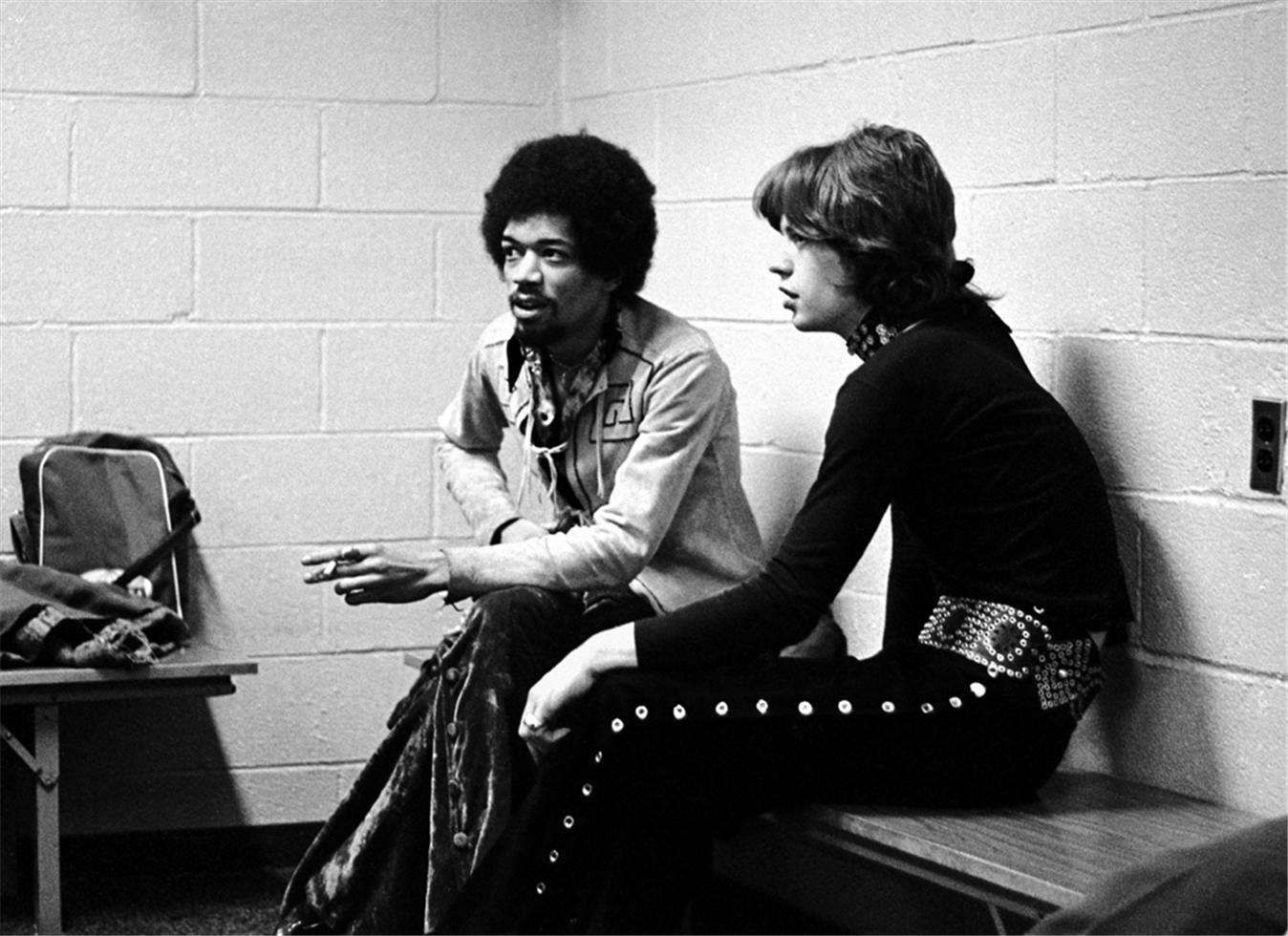 1969. Джимми Хендрикс и Мик Джаггер, Мэдисон Сквер Гарден, Нью-Йорк