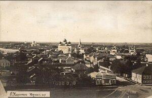 Вид с колокольни Соборной площади на южную часть города