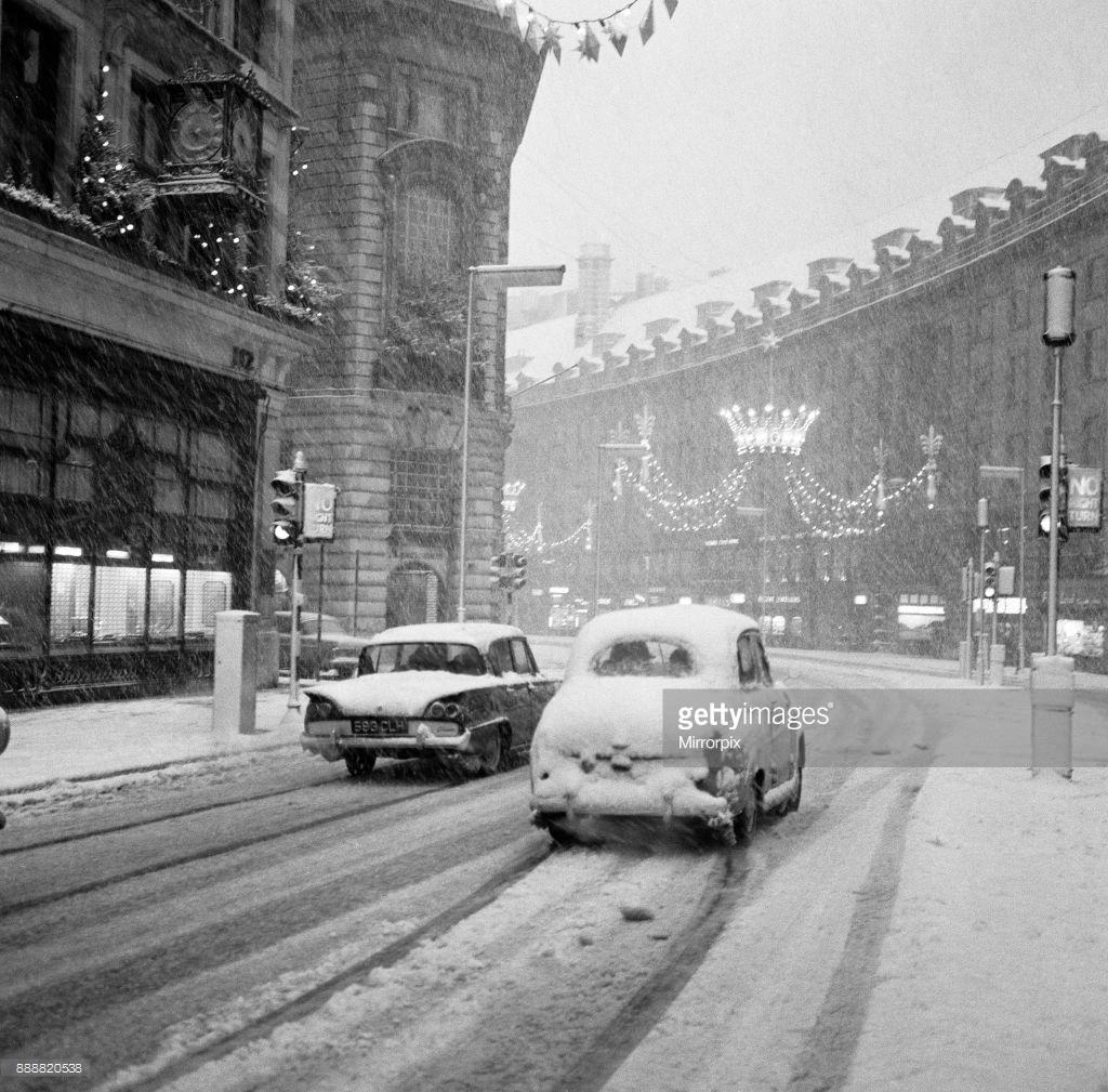 1961. Сильный снегопад в канун Нового года в Лондоне