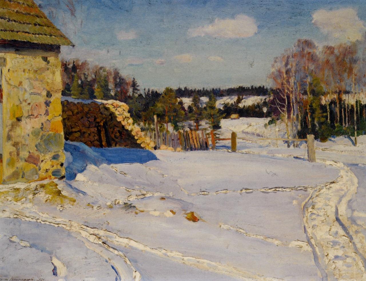 Зимний пейзаж.1926. Виноградов, Сергей Арсеньевич(1969-1938)