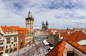 Прага. Вид на Старомясискую площадь