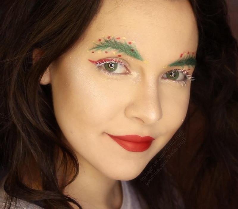 Новый модный тренд: брови в виде «рождественских ёлок»