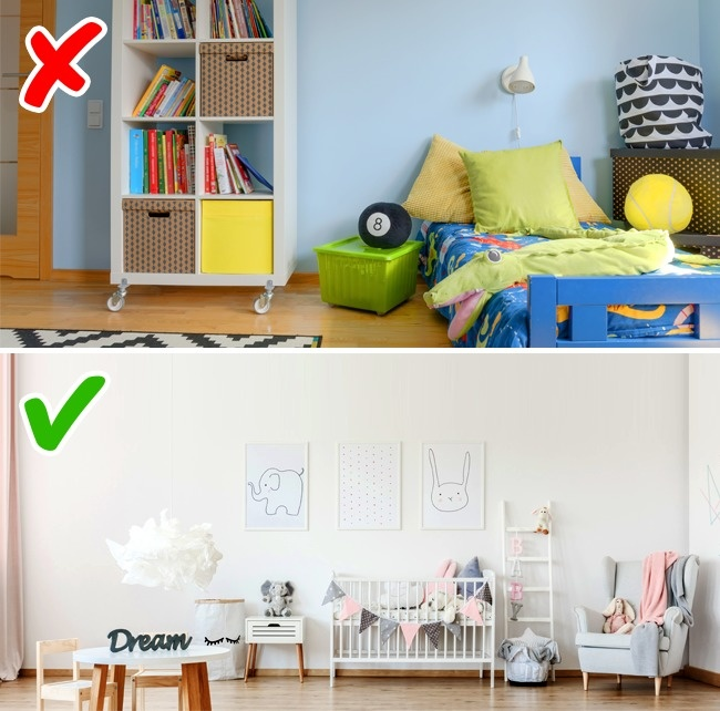 © depositphotos  © depositphotos     Интерьер детской вполне может быть спокойным,