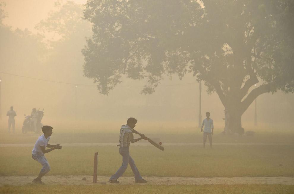 15. Ничего не видно. Нью-Дели, Индия, 9 ноября 2017. (Фото R S Iyer):