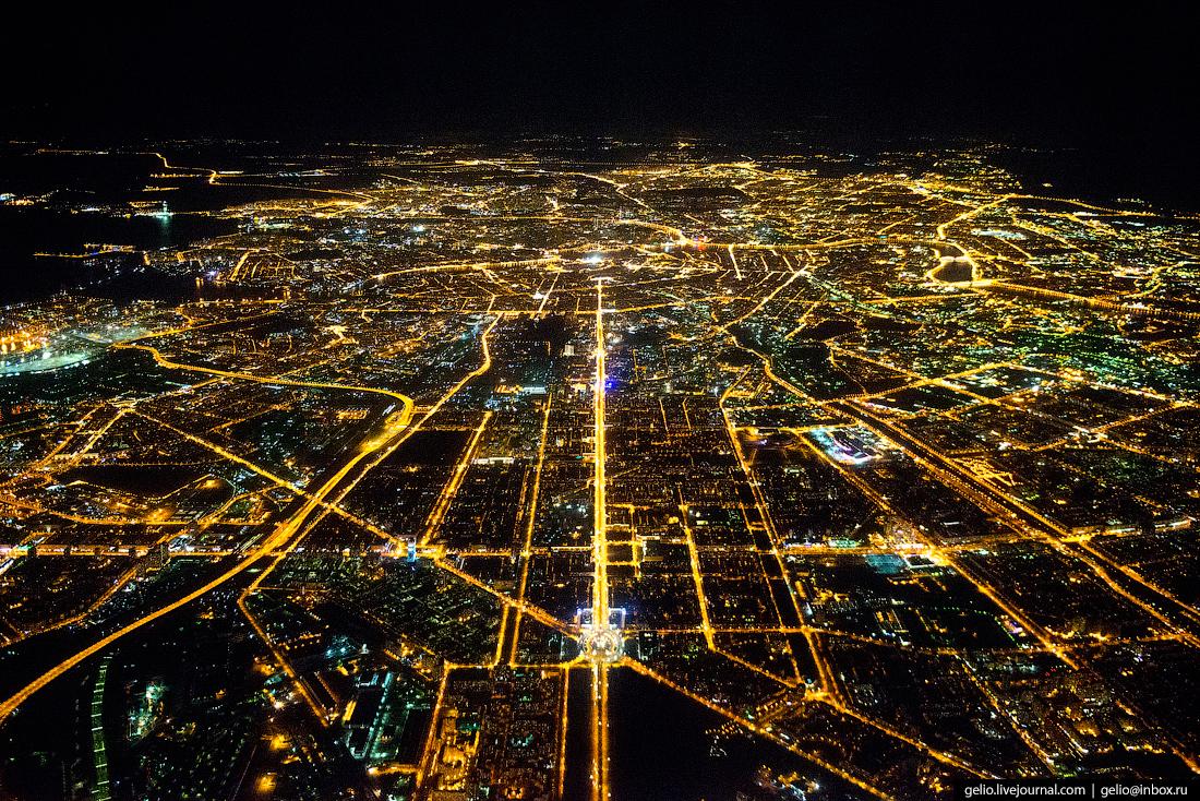 Санкт-Петербург. Московский Проспект. Фотографии из окна самолета
