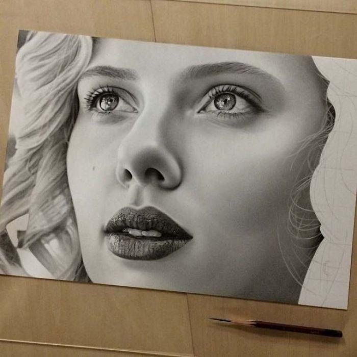 Гиперреалистичные рисунки карандашом