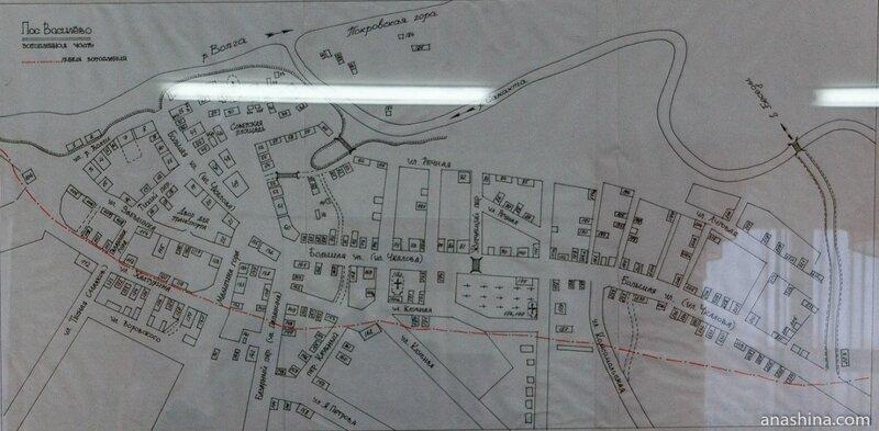 Карта затопленной части поселка Василёво, составитель В.П.Лукин