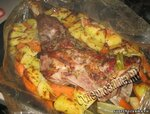 Баранина в духовке с картофелем